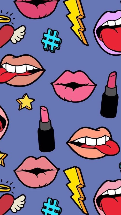 Imagem De Background Cosmetics And Hipster Lip Wallpaper Teen Pattern