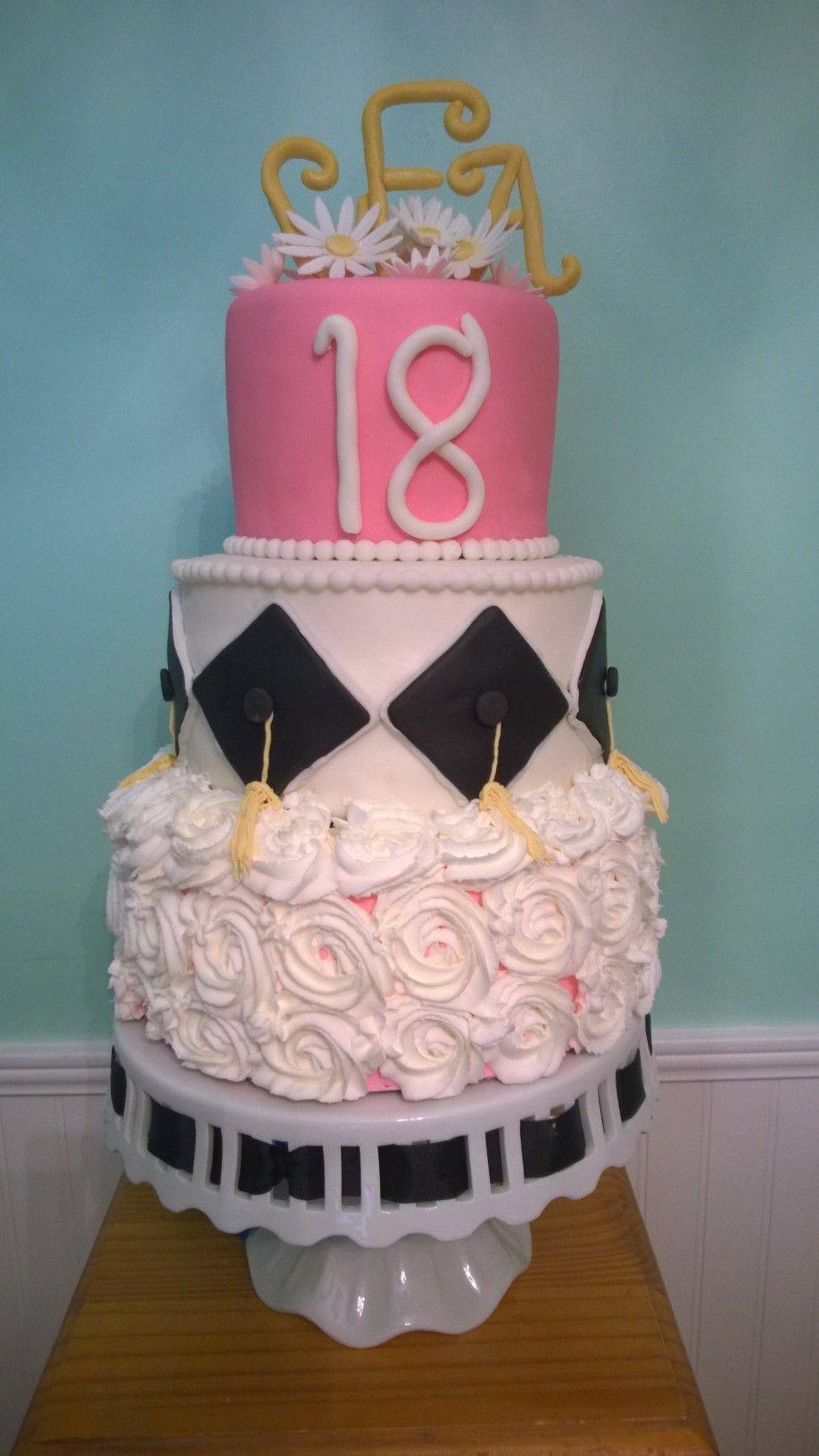 18th Birthdaygraduation Cakes By Me Pinterest Cake
