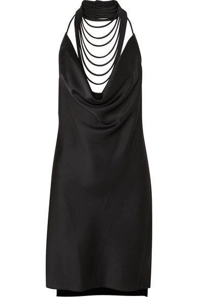 Halston Heritage Woman Stretch-cotton Ponte Mini Dress Midnight Blue Size 4 Halston Heritage Professional Sale Online eqls0D