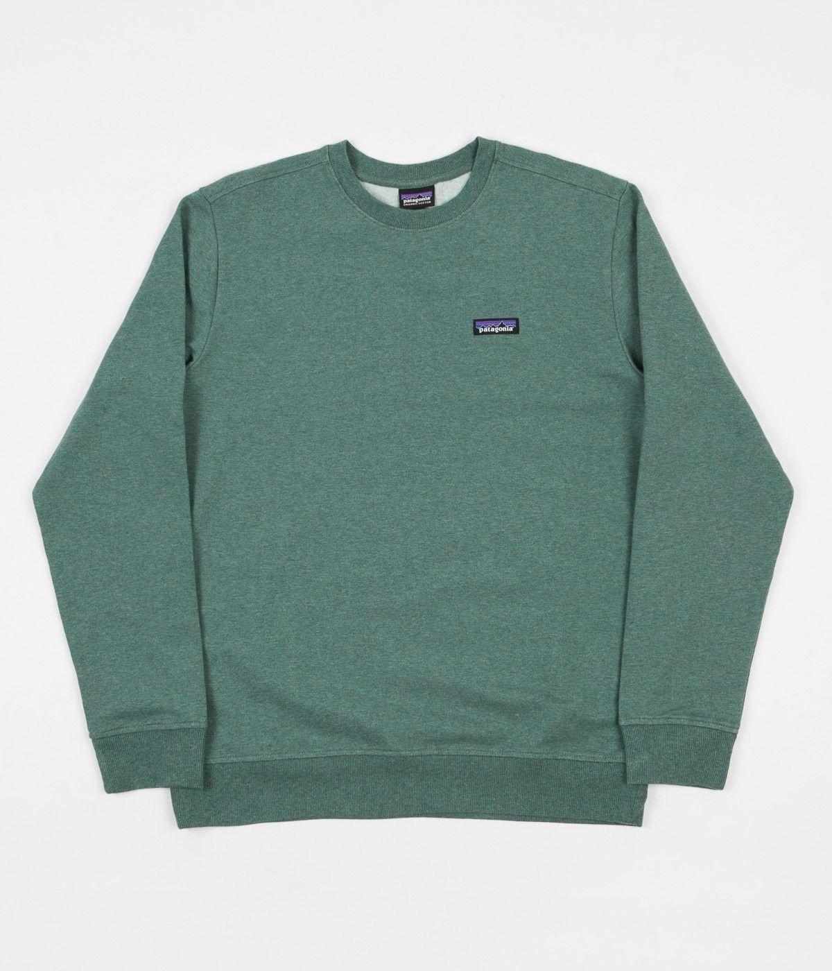 Patagonia P 6 Label Midweight Crewneck Sweatshirt Pesto Sweatshirts Crew Neck Sweatshirt Patagonia Sweatshirt [ 1400 x 1200 Pixel ]
