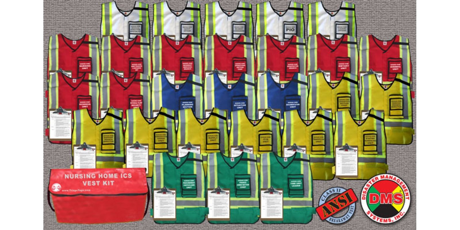 Dms05850 nursing home ics nhics command vest kit 28