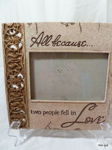All Because Two People Fell In Love Picture Photo Frame ceramic ...
