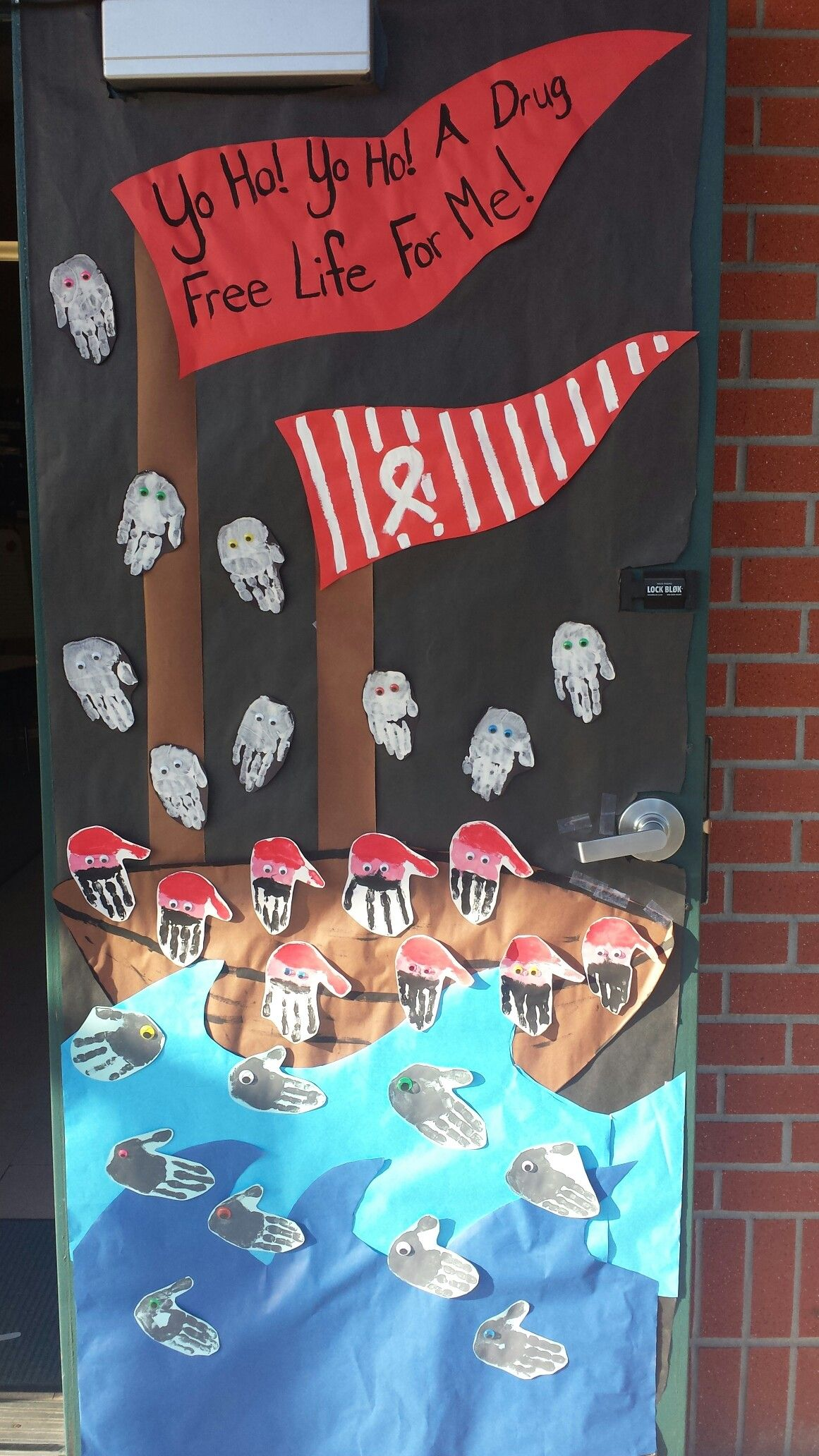 Pirate Themed Red Ribbon Week Door Decoration Red Ribbon Week Red Ribbon Pirate Crafts