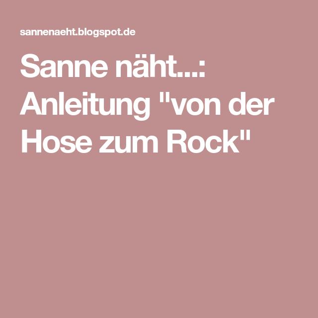 Sanne näht: Anleitung