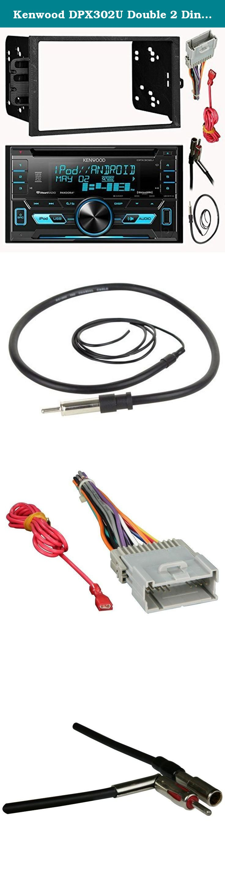 Kenwood Dpx302u Double 2 Din Cd Mp3 Car Stereo Receiver Bundle Combo Player Wiring Harness With Metra Installation Kit