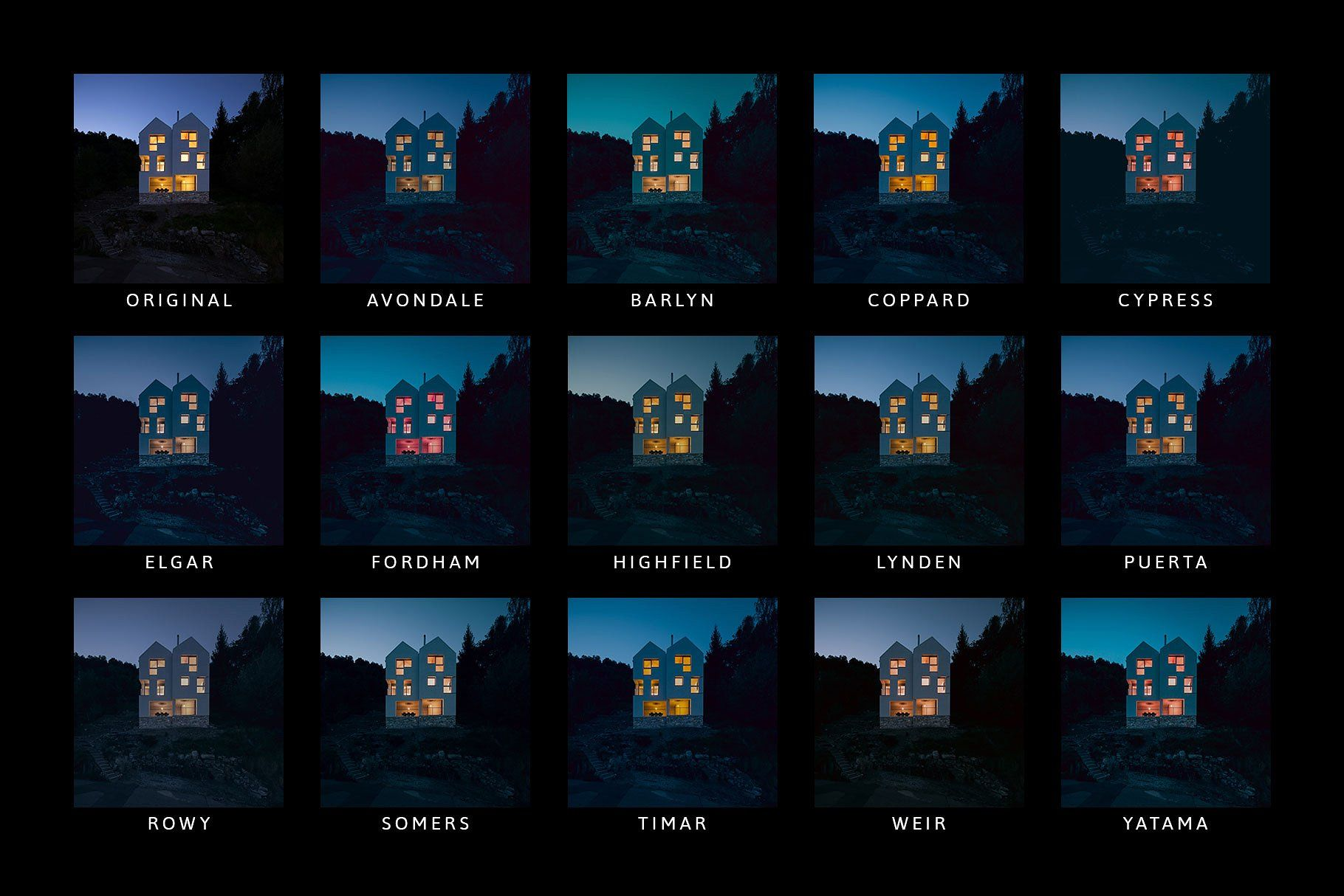 Midnight Lightroom Presets/Profiles #Show#click#tab#Folder