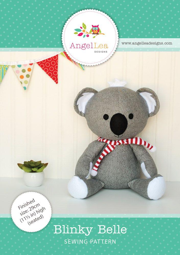 Blinky Belle Koala PDF Sewing Pattern | Pinterest | Nähen
