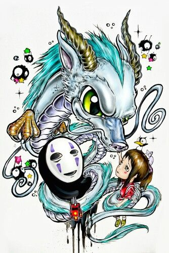 Wonderful idea for a spirited away tattoo Made by Alister Dippner