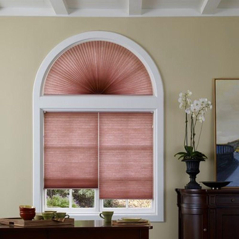 Window coverings arched windows  home decorators collection light filtering arch cellular shade â