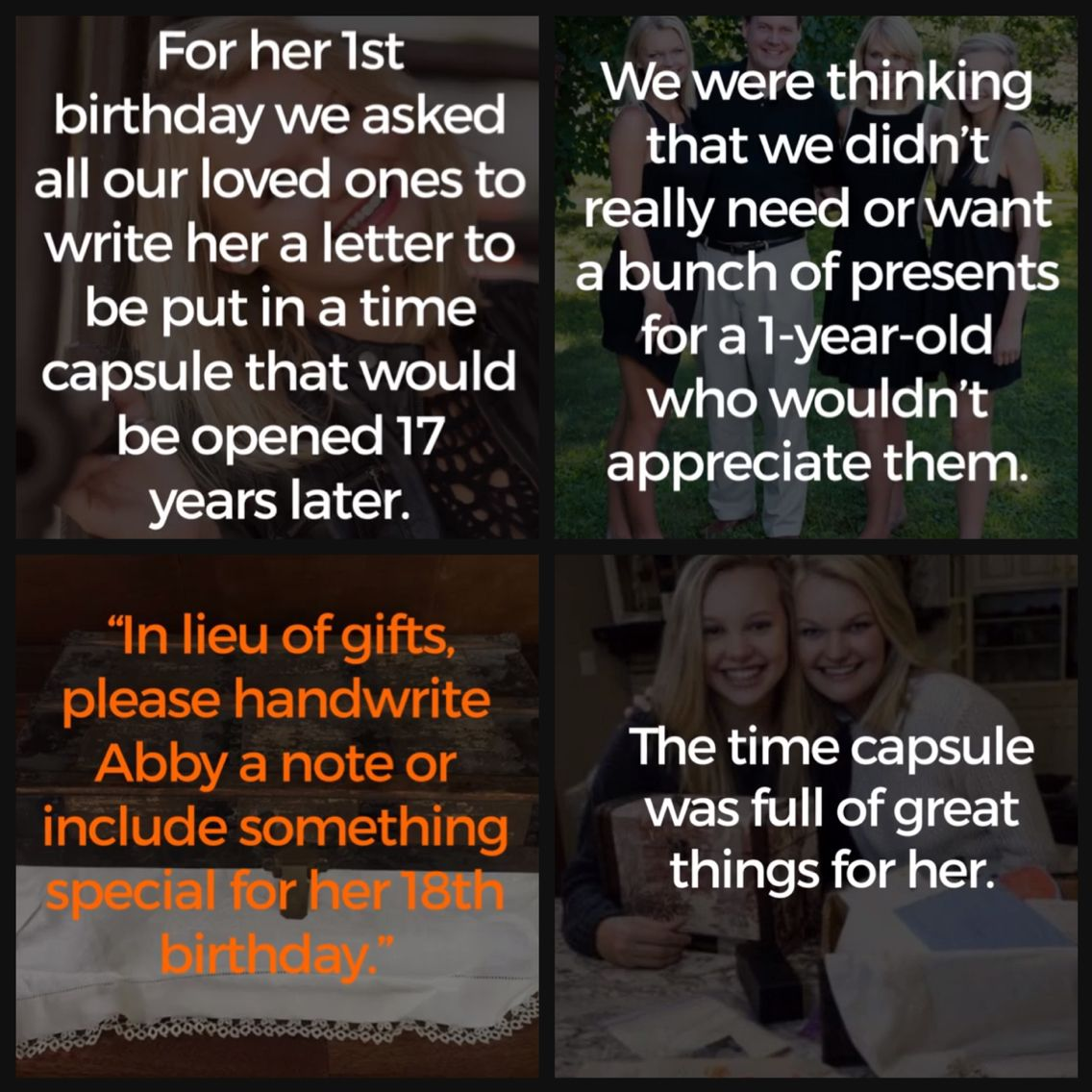 Create A Time Capsule At Their 1st Birthday, And Then Gift