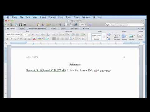 Video with step-by-step instructions about setting up a paper on a - step by step resume