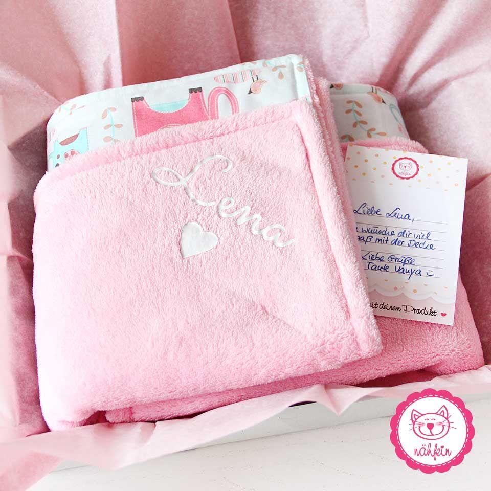 Kuschlige Geschenke Zum 1 Geburtstag Flauschig Babydecke Rosa