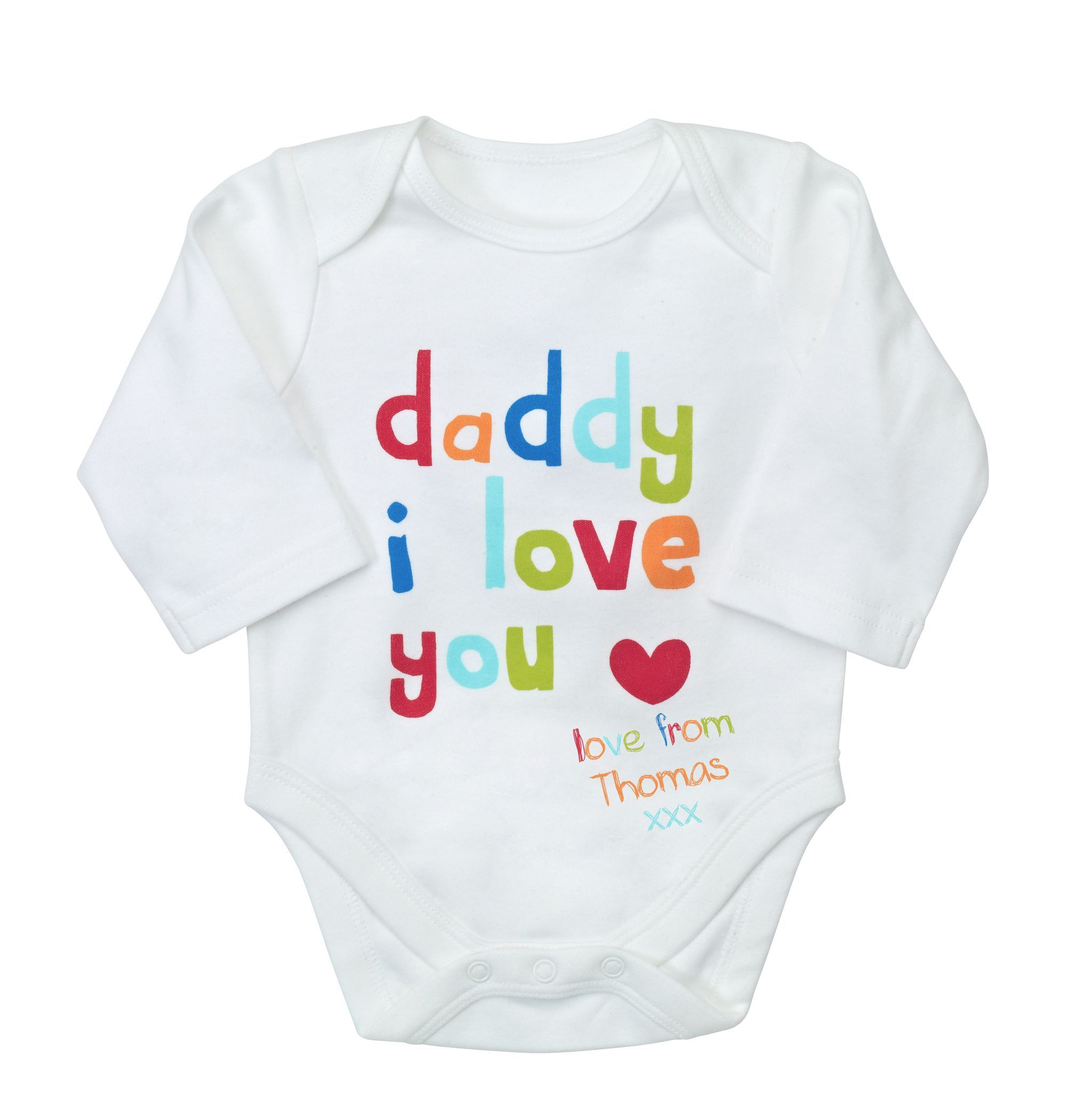 I Love Daddy Personalised Bodysuit