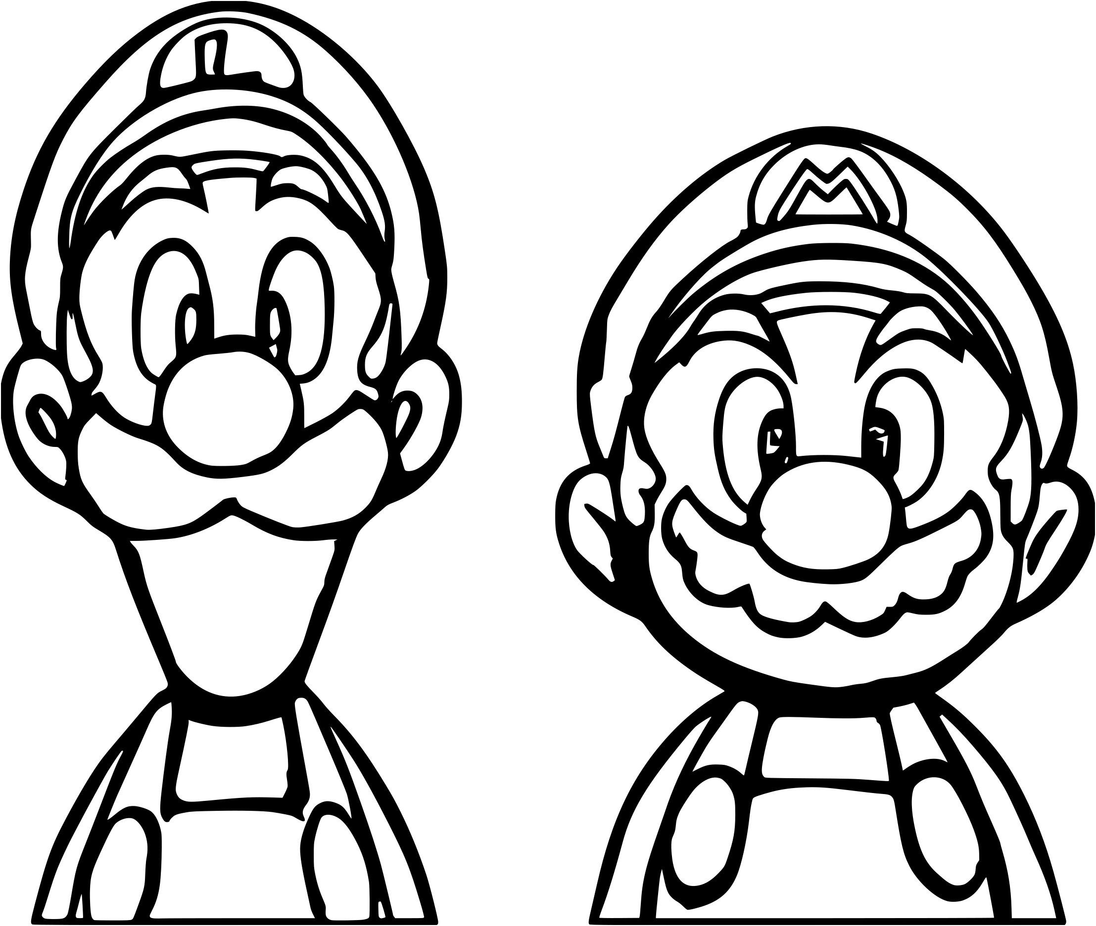 13 Excellent Coloriage Mario Et Luigi Images