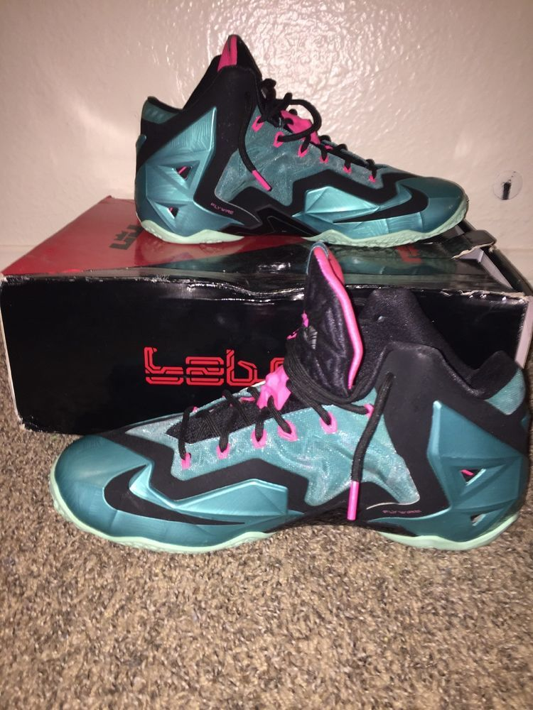 sports shoes 654e1 cca17 Nike Lebron James 11 XI South Beach 616175-330 TEAL SIZE 13  fashion   clothing  shoes  accessories  mensshoes  athleticshoes (ebay link)