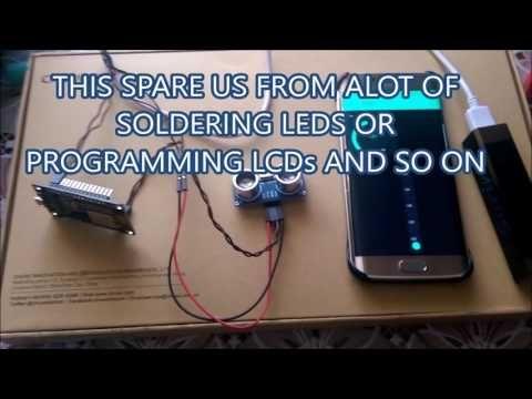 Esp8266 Nodemcu Using Hc Sr04 Ultrasonic Sensor And Blynk App Youtube Sensor Ultrasonic Samsung Galaxy Phone