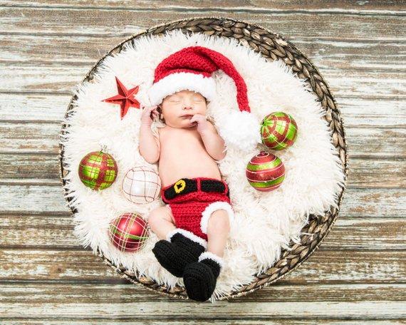 cf7b942f5fde Crochet Santa Outfit Baby boy,Baby boy Santa Suit, Santa suit,Santa Photo  Prop,baby first christmas