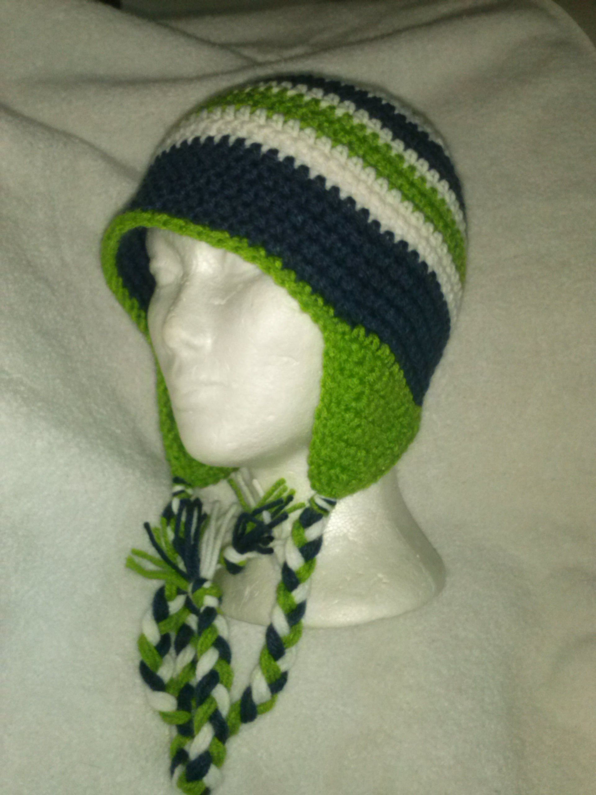 B seahawksbeanie crocheted items pinterest crochet