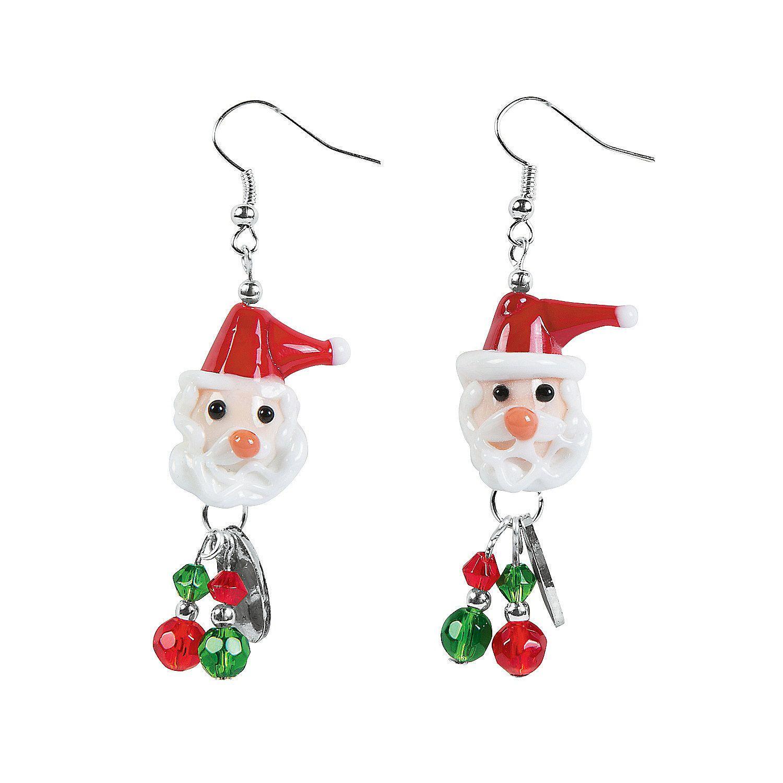 Santa+Earrings+Craft+Kit+-+OrientalTrading.com