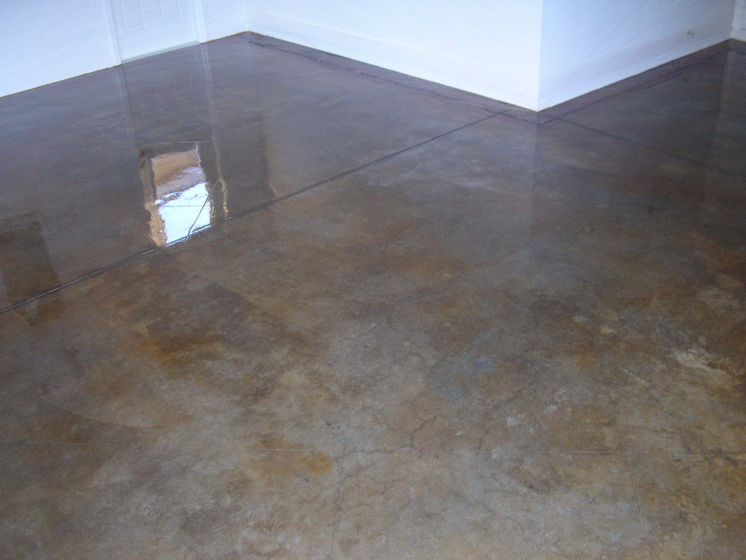 Latex concrete stain