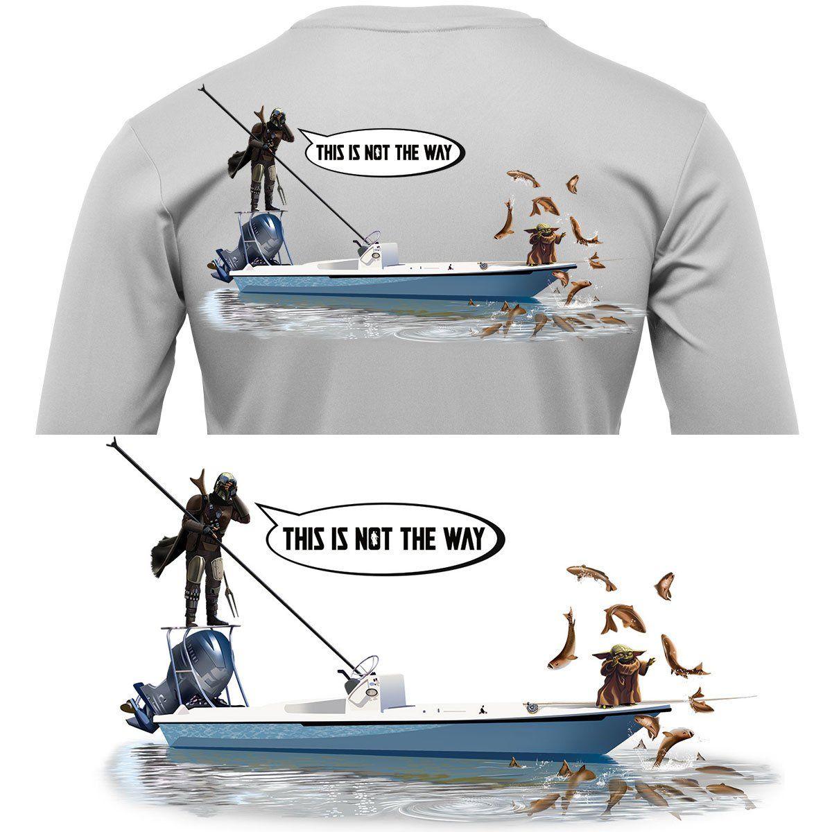 Mandalorian Baby Yoda Fishing Shirt Poling Skiff In 2021 Fishing Shirts Fishing Outfits Workout Shirts