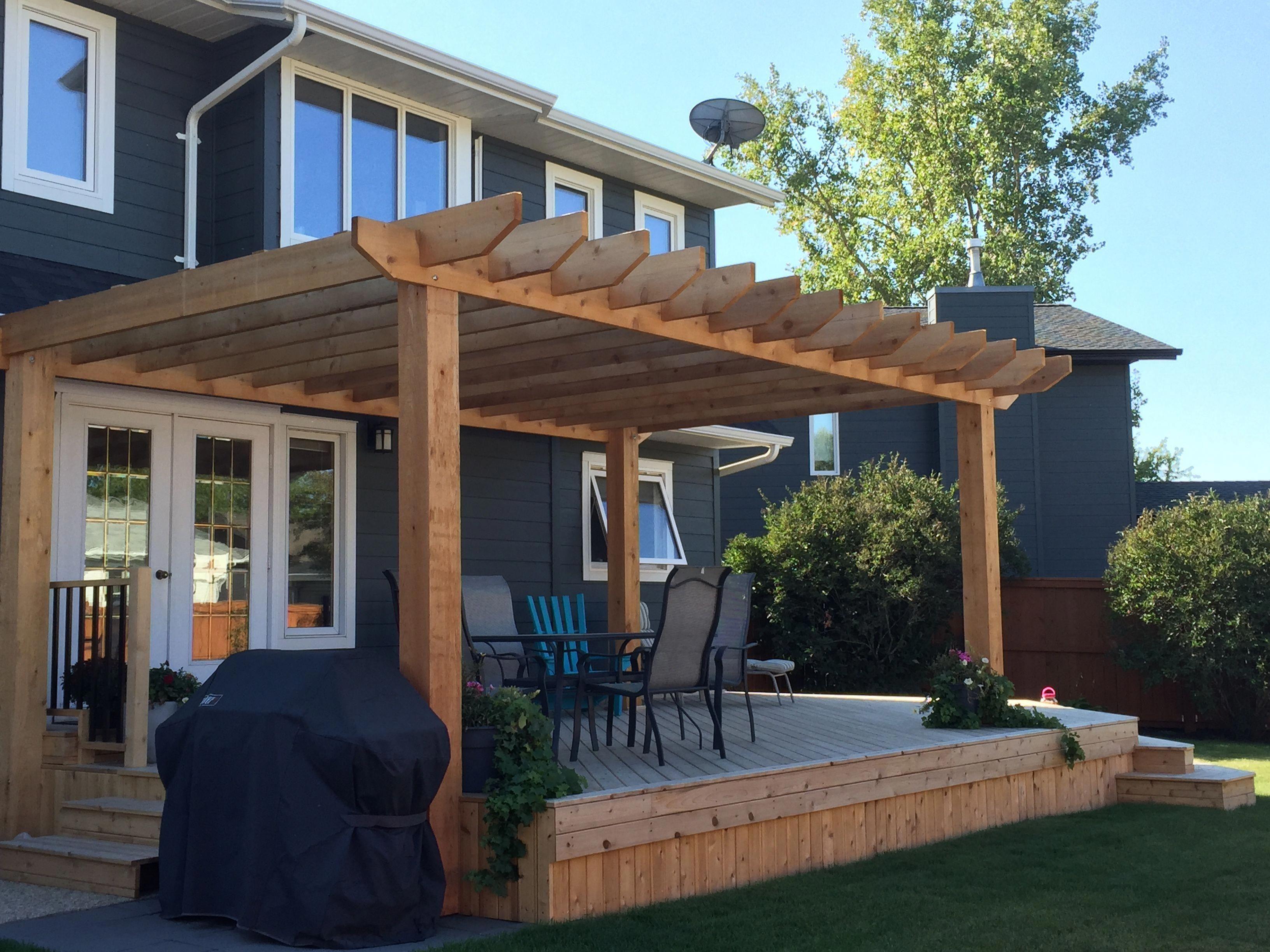 Pergola Builders Near Me #PergolaWithRoof | Backyard patio designs, Backyard pergola