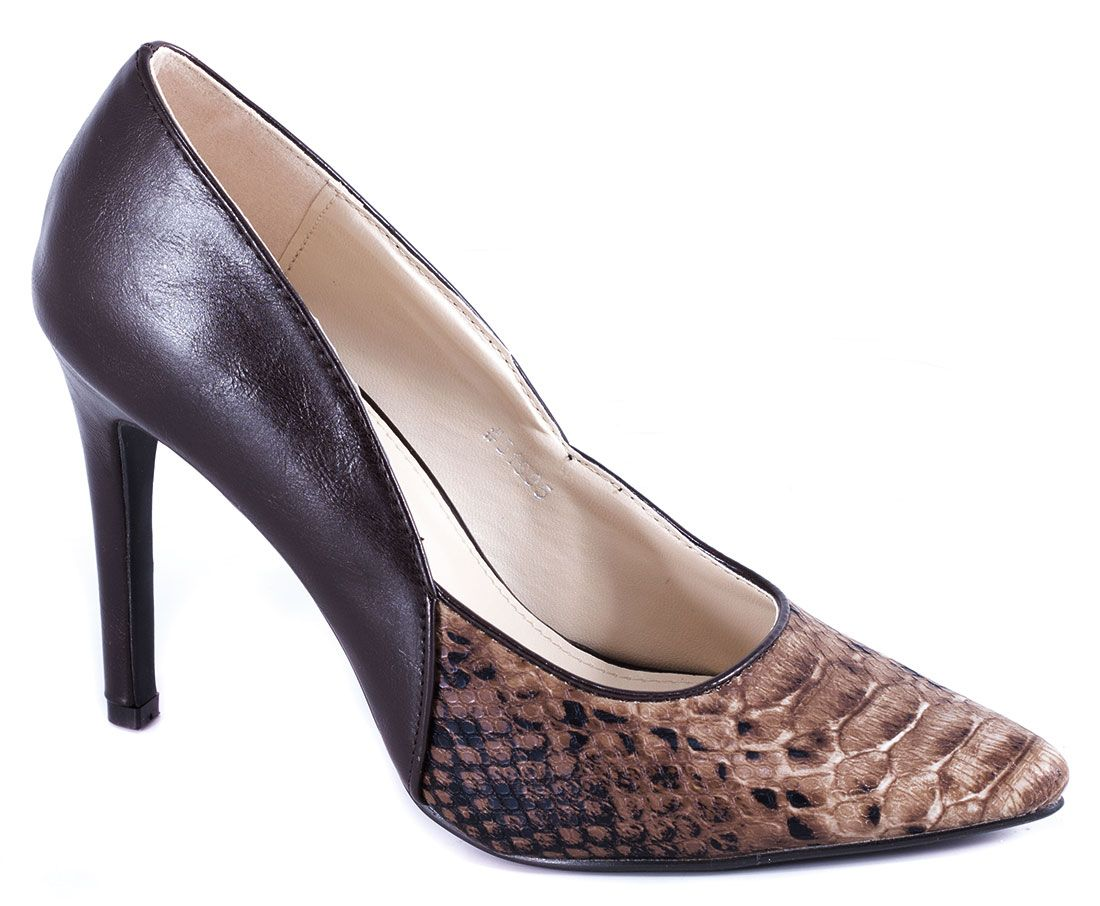 Pantofi cu toc - Pantofi de dama maro 51695M - Zibra