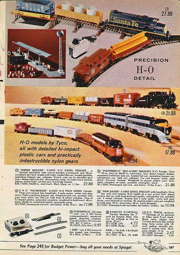 Vintage 1955 TYCO  HO Electric Trains Catalog