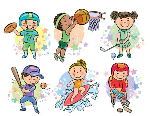 Sports People Cartoon Vector 03 Strip Sport Thema