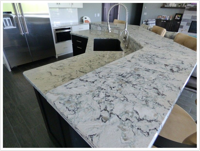 Praa Sands Quartz By Cambria Is Made Up Of A Cream Base With Black