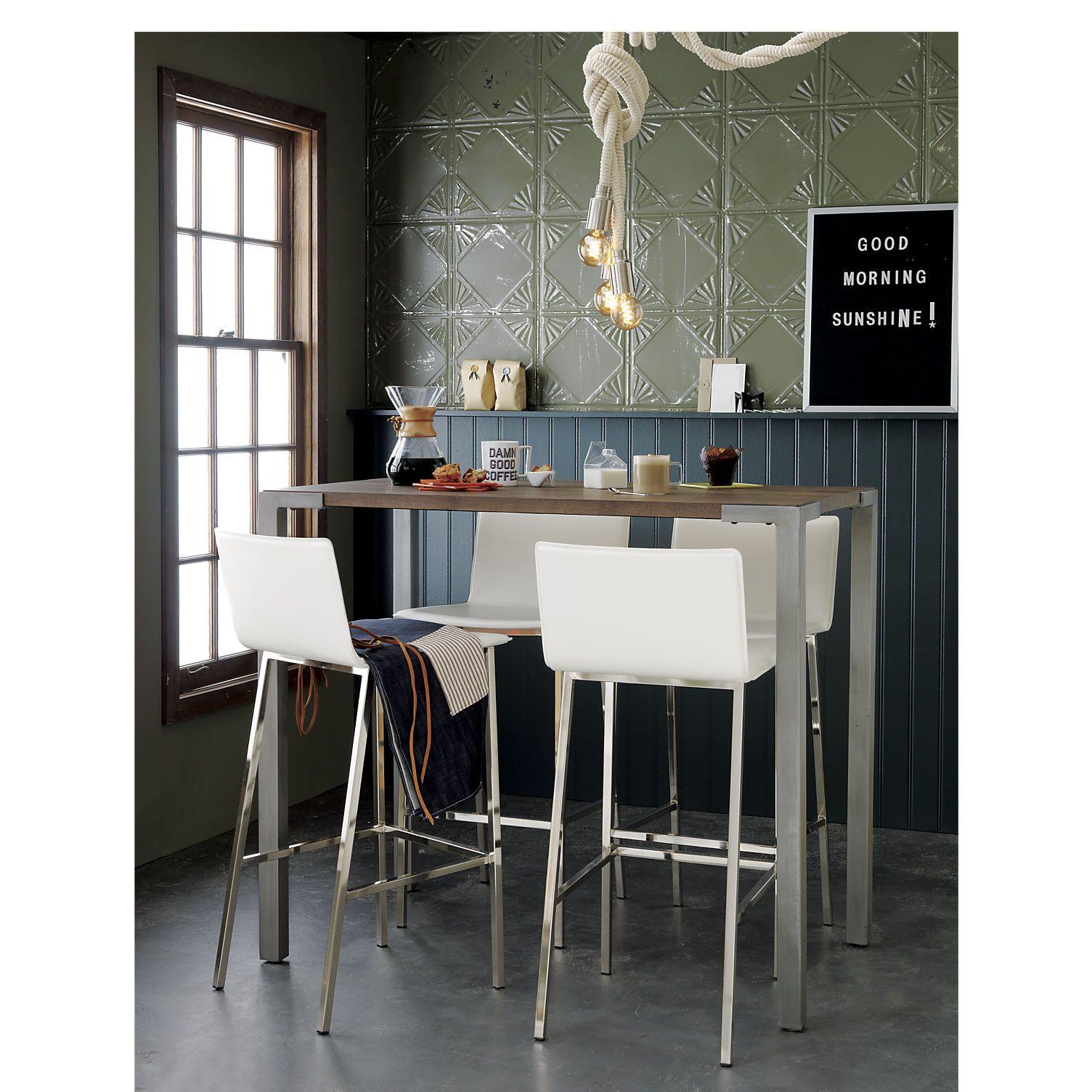 stilt 42   high dining table   cb2 stilt 42     high dining table   kitchen island bar industrial      rh   pinterest com