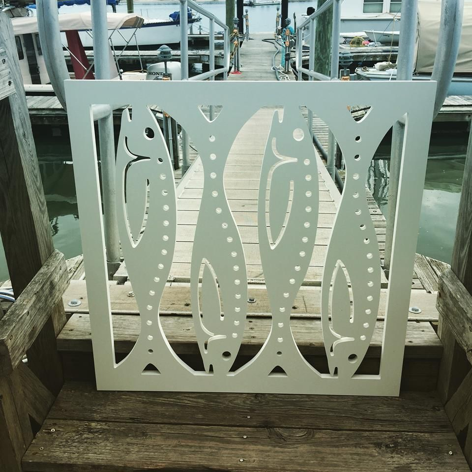 Porch gate panel with fish design cutouts by island creek designs porch gate panel with fish design cutouts by island creek designs http baanklon Images