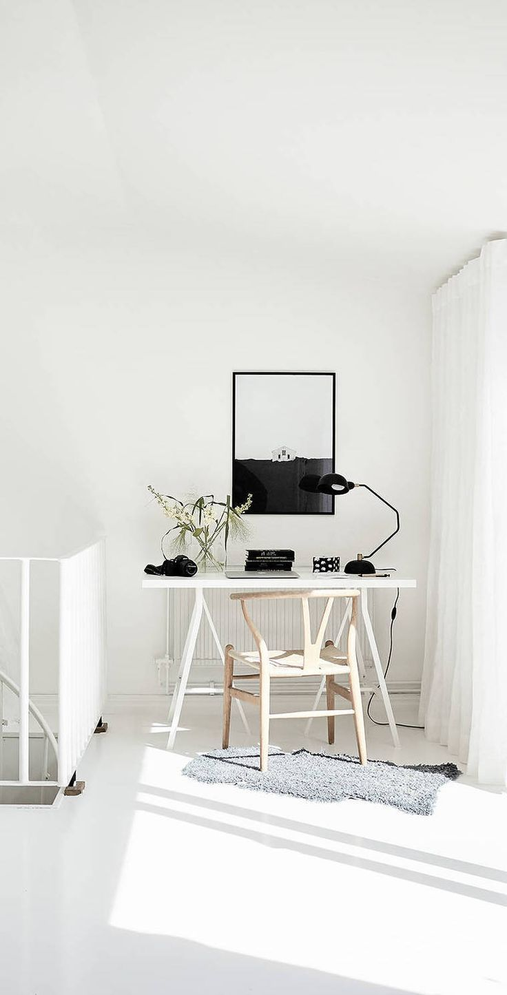 small space - simple - white | Dream Home Office | Pinterest ...