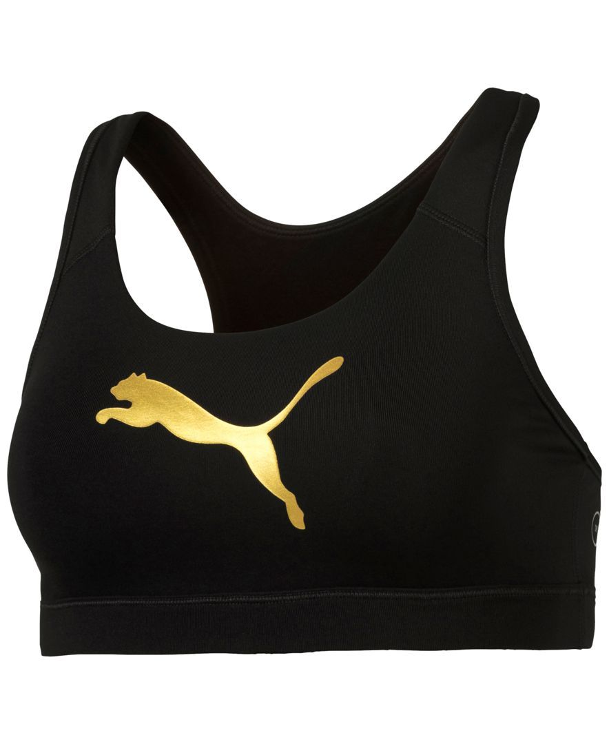 282bb21e9d Puma Powershape Forever Gold dryCELL Mid-Impact Racerback Sports Bra ...