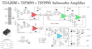 Subwoofer Amplifier using TDA2030 + TIP3055 TIP2955 | krishnamoorthy ...
