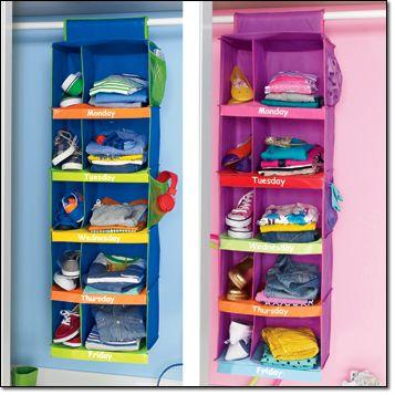 Kids Daily Clothing Organizer Www
