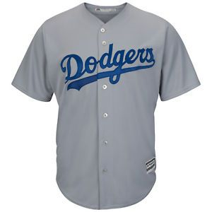 95de1a2ca5345 a mlb beisbol camiseta los angeles dodgers gris road cool base majestic  jersey