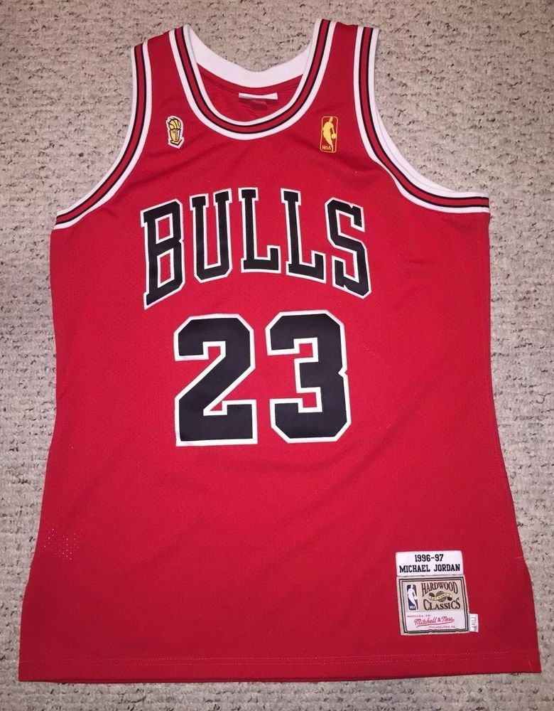 Mitchell And   Ness NBA Chicago Michael Jordan Flu Game 96-97 Jersey Large  44 1  MichaelJordan 831452869