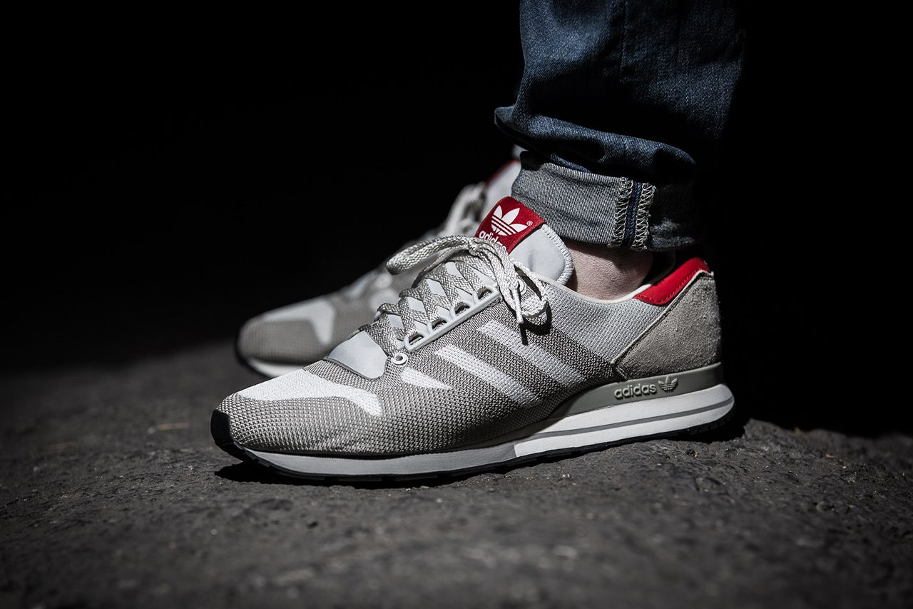 adidas originals mens zx 500 og trainers red
