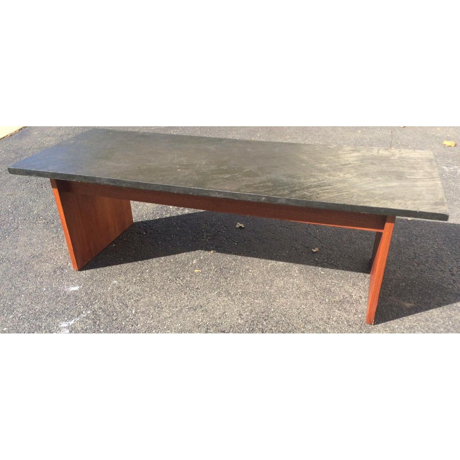 MidCentury Teak With Slate Top Coffee Table Slate Teak and Mid