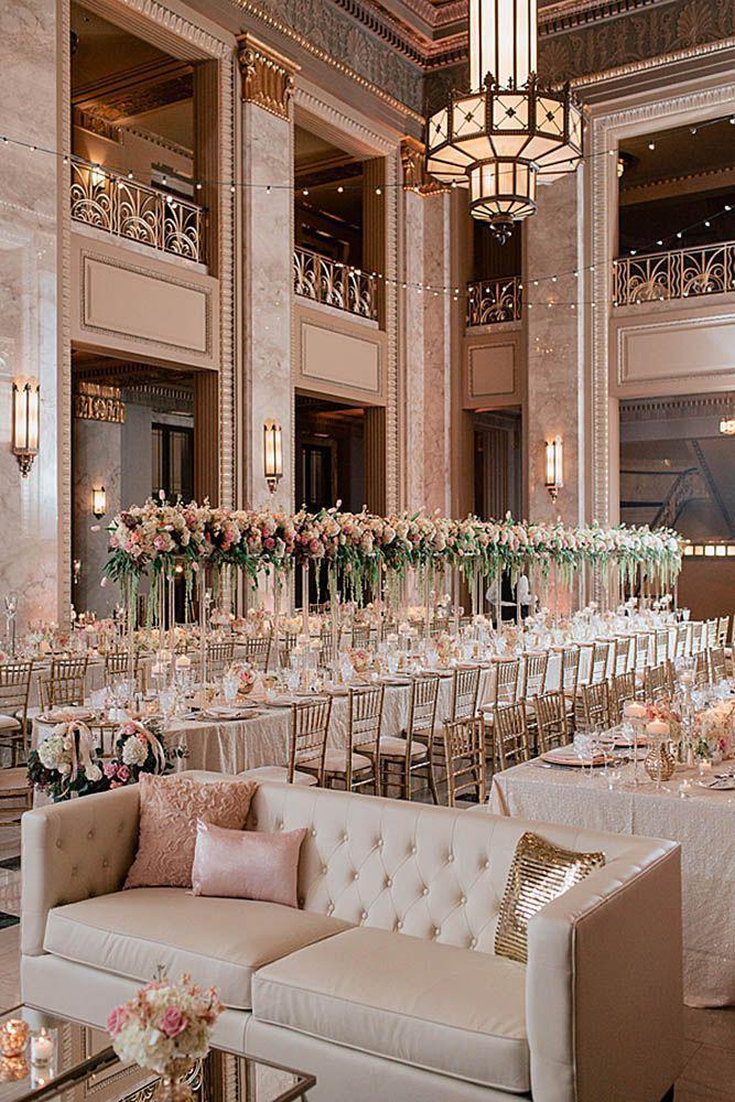 42 Glamorous Rose Gold Wedding Decor Ideas | Gold wedding ...