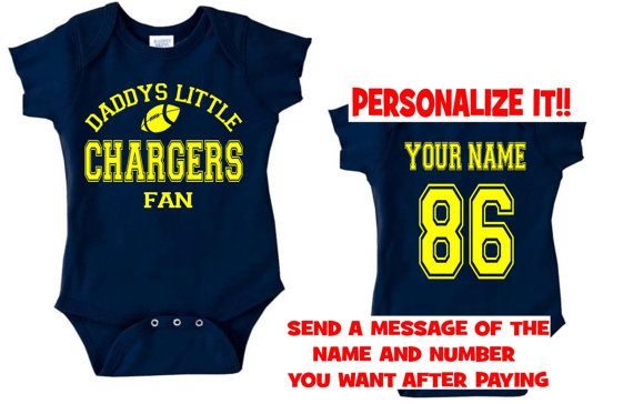 promo code a6837 45f1c daddys mommy chargers baby jersey customized personalized ...