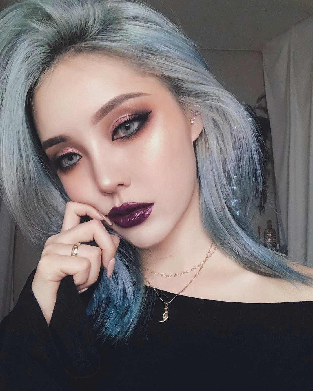 pony park hye min make up 😍😎😈 Pony makeup, Purple makeup