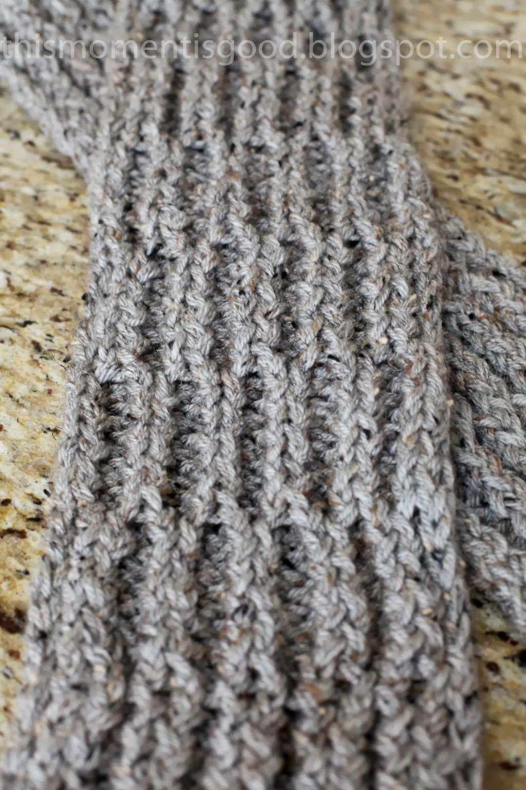 Warm & Cozy Loom Knit Scarf... If you\'ve read my earlier posts, you ...