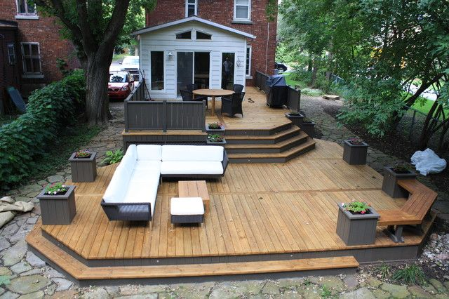 Indeed A Big Deck For A Small Yard. Great Idea!