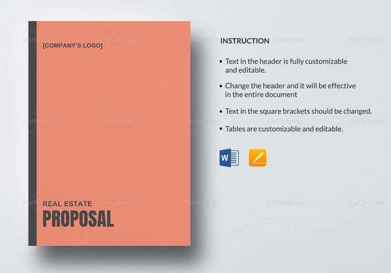25 best Proposal Document Design images on Pinterest - real estate proposal template
