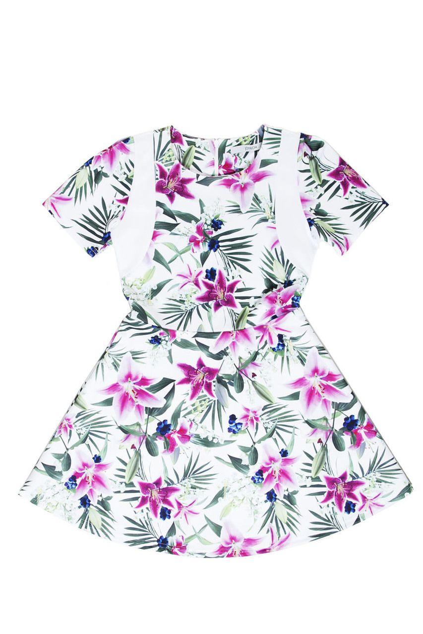 OPTICAL GARDEN PLAYER DRESS / WHITE - JOYRICH Store