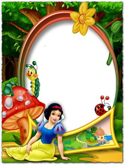 Snow White In The Forest Png Photo Frame Disney Frames Disney Scrapbook White Scrapbook Layout