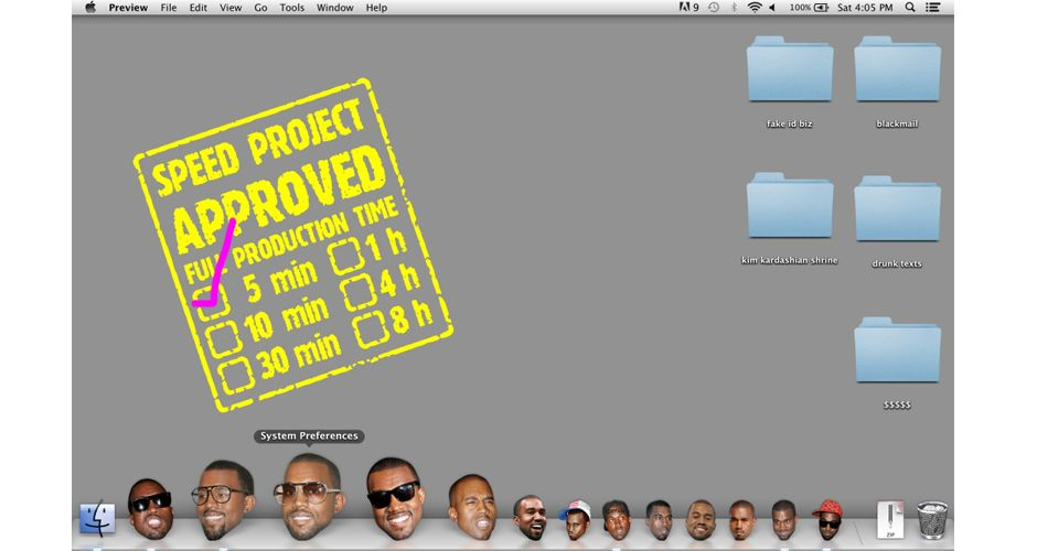 this app turns your apple desktop icons into kanye west s face