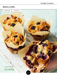 Waitrose Food January 2016: Blueberry muffins